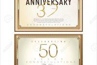 Anniversary Certificate Template regarding Anniversary Certificate Template Free