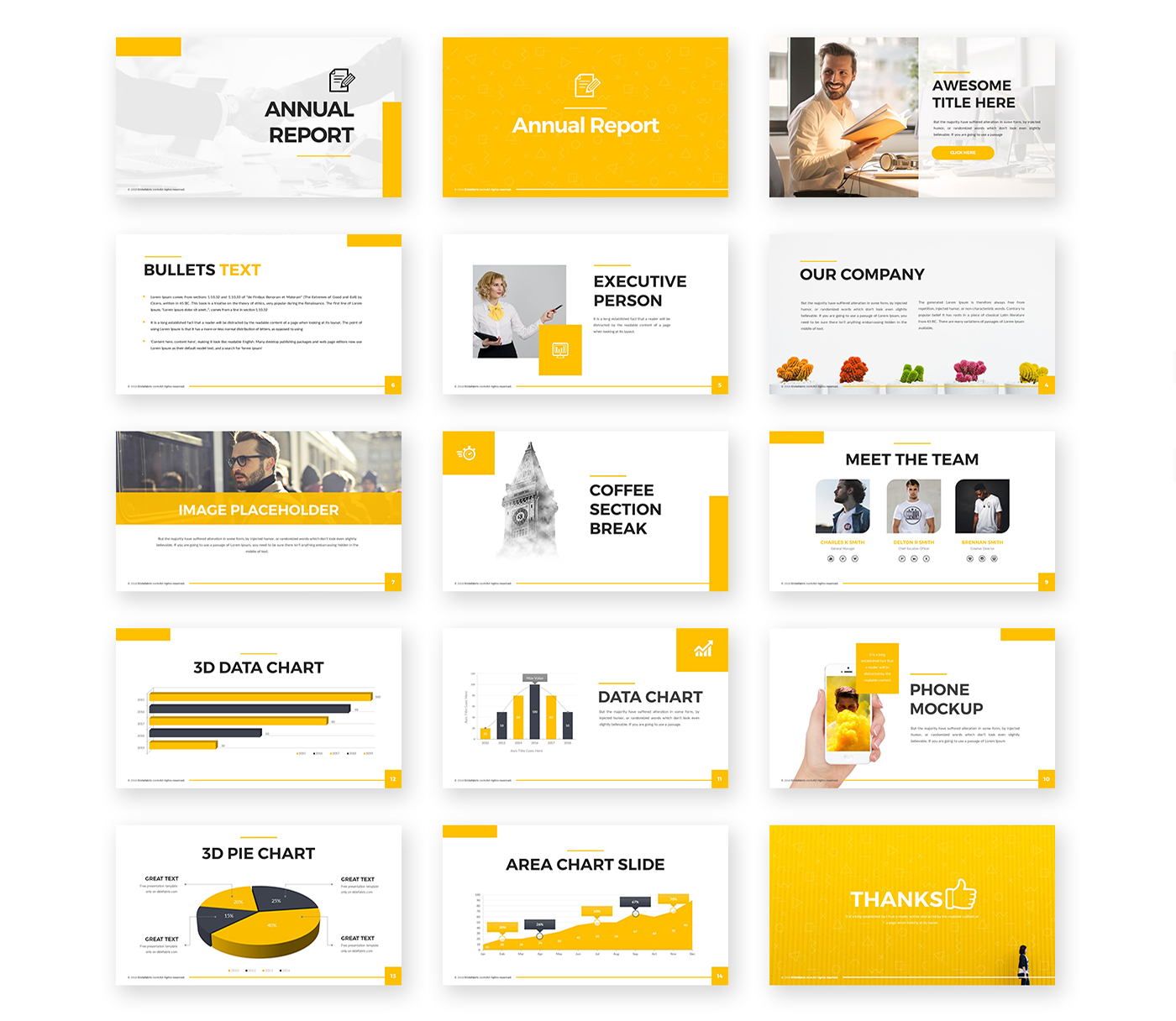 Annual Report Powerpoint Template  Pixelify  Best Free Fonts Intended For Annual Report Ppt Template