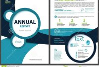 Annual Report Template With Geometric Shapes Stock Vector throughout Illustrator Report Templates