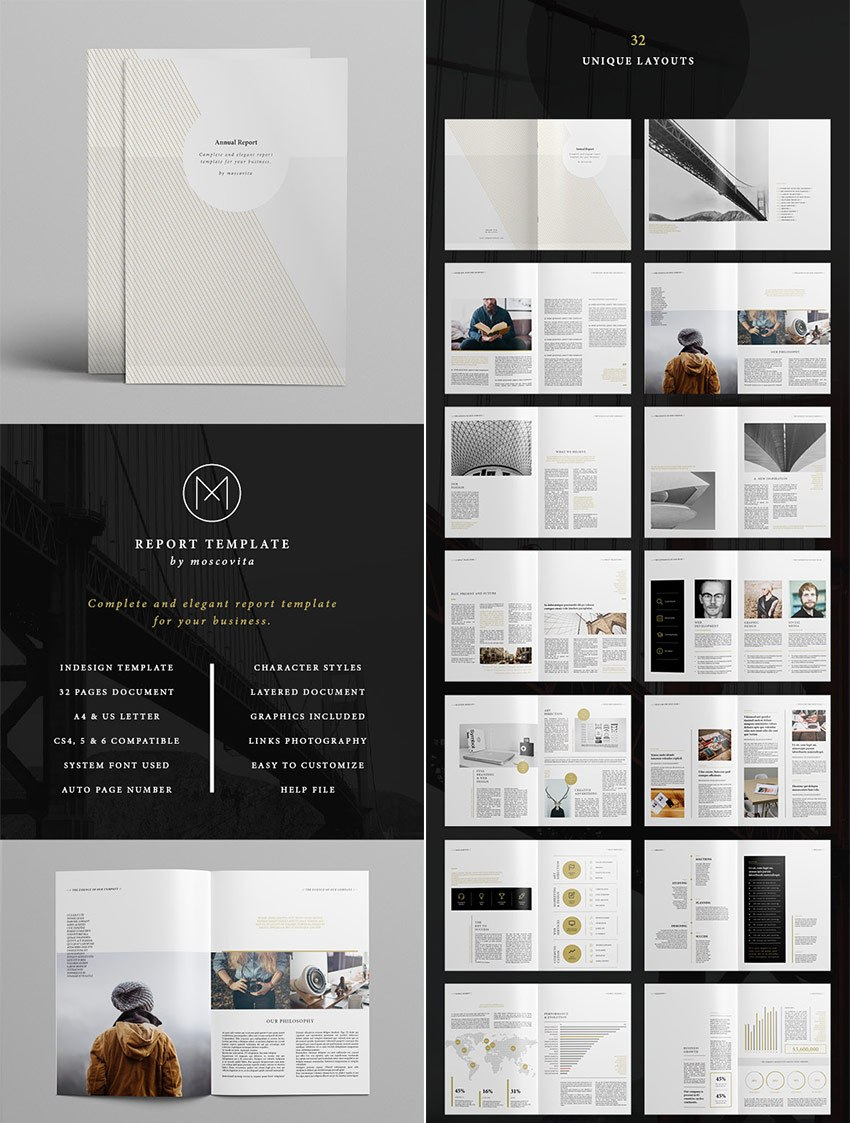 Annual Report Templates  With Awesome Indesign Layouts Throughout Free Annual Report Template Indesign