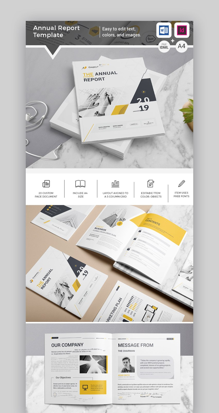 Annual Report Templates  With Awesome Indesign Layouts With Illustrator Report Templates
