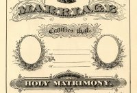 Antique Ephemera Clip Art  Printable Marriage Certificate  The with Blank Marriage Certificate Template
