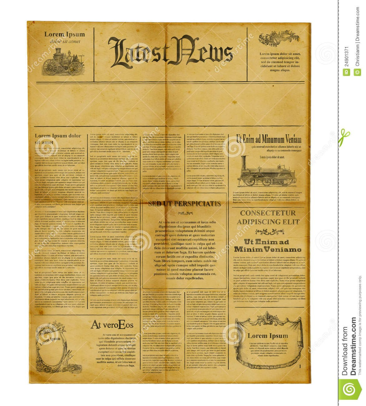 Antique Newspaper Template Stock Image Image Of Information Within Blank Old Newspaper Template