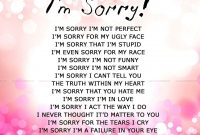 Apology Card Templates   Free Printable Word  Pdf with Sorry Card Template