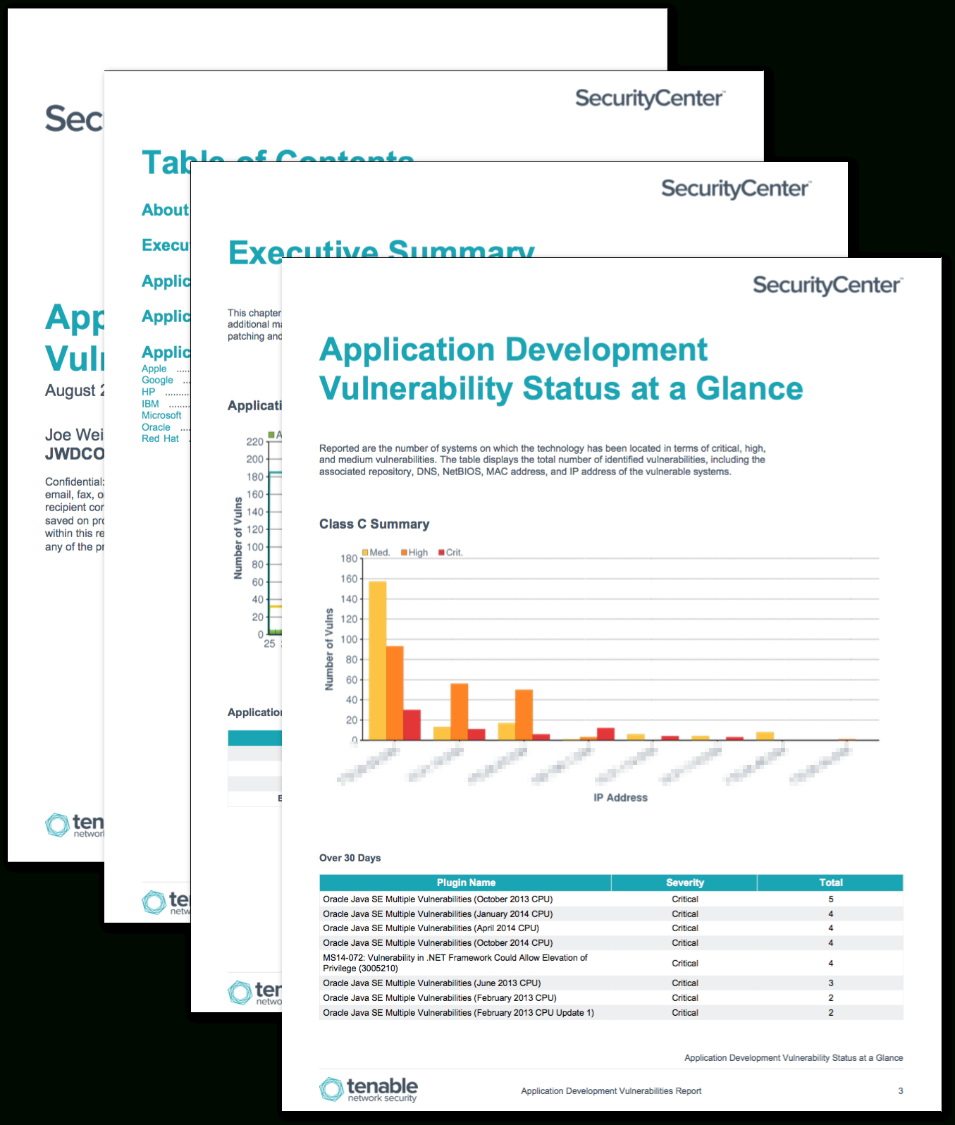 Application Development Summary Report  Sc Report Template  Tenable® With Regard To Nessus Report Templates