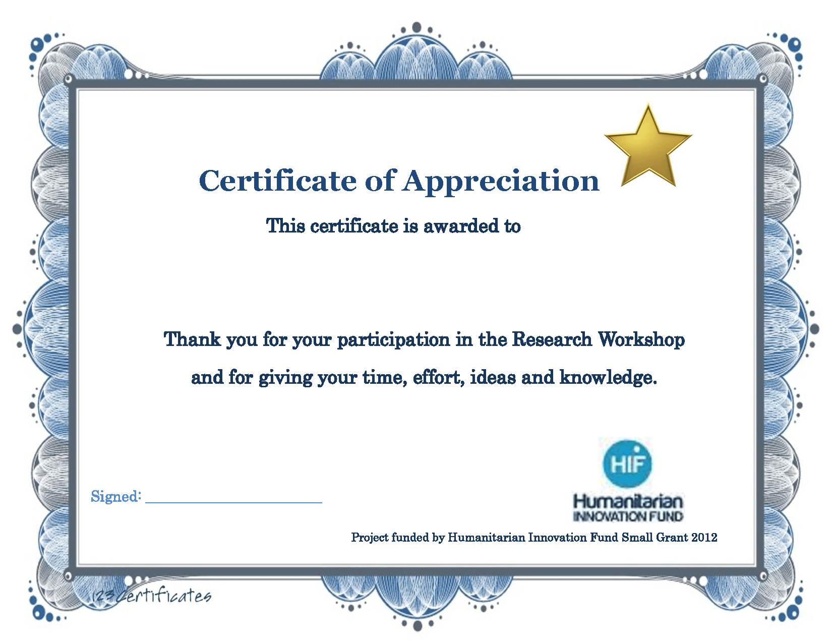 Appreciation Training Certificate Completion Thank You Word Letter Pertaining To Certificate Of Participation Word Template
