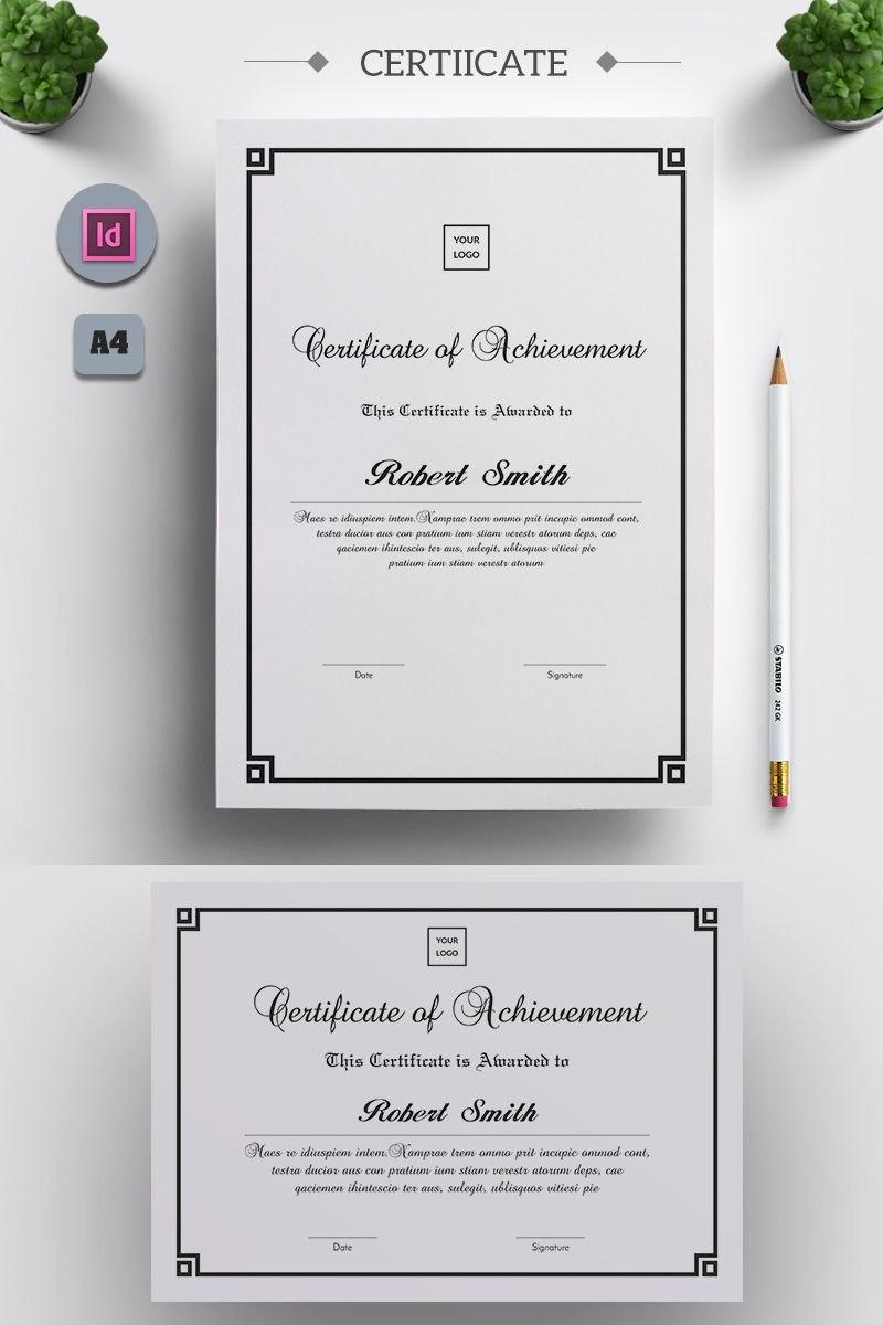 Arp  Certificate Template  Design  Certificate Design With Indesign Certificate Template