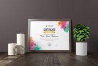 Artemis Landscape Certificate Template   Certificate Template intended for Landscape Certificate Templates