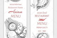 Asian Food Menu Design Template — Stock Vector © Artromashka intended for Asian Restaurant Menu Template