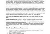 Assignment  A Memo Report in Assignment Report Template