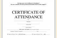 Attendance Certificate Template Word Guarantee Certificate Format In for Scholarship Certificate Template Word
