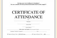 Attendance Certificate Template Word Guarantee Certificate Format In with regard to Scholarship Certificate Template