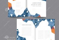 Attractive Halffold Brochure Template Design Stock Vector intended for Half Page Brochure Template
