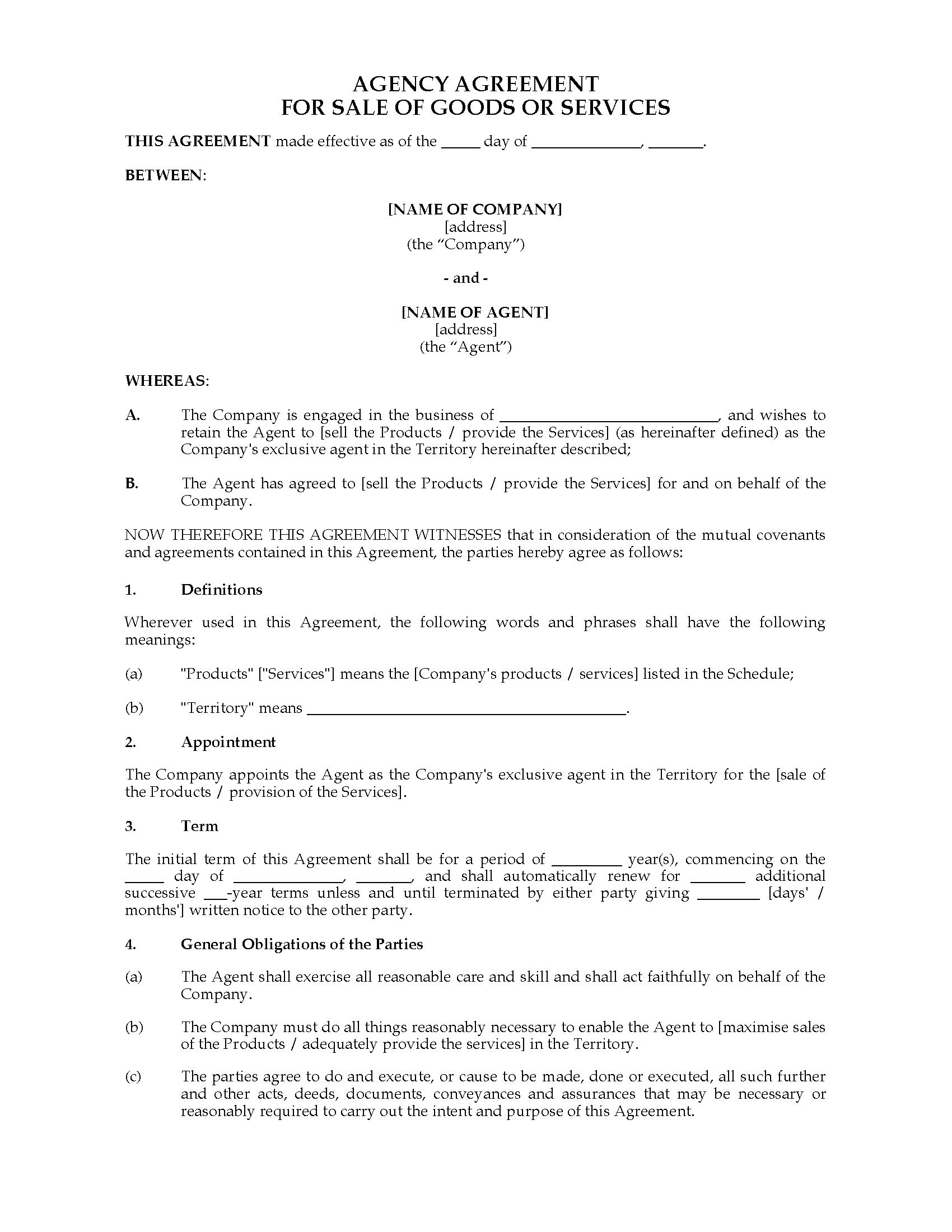 Australia Exclusive Agency Agreement  Legal Forms And Business With Regard To Supplier Rebate Agreement Template
