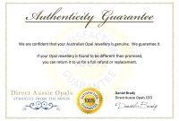 Authenticity Certificate Template  Certificate Of Authenticity with Photography Certificate Of Authenticity Template