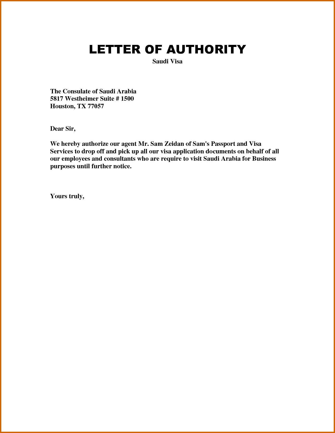 Authorization Letter Template  Garden In   Letter Templates Within Certificate Of Authorization Template
