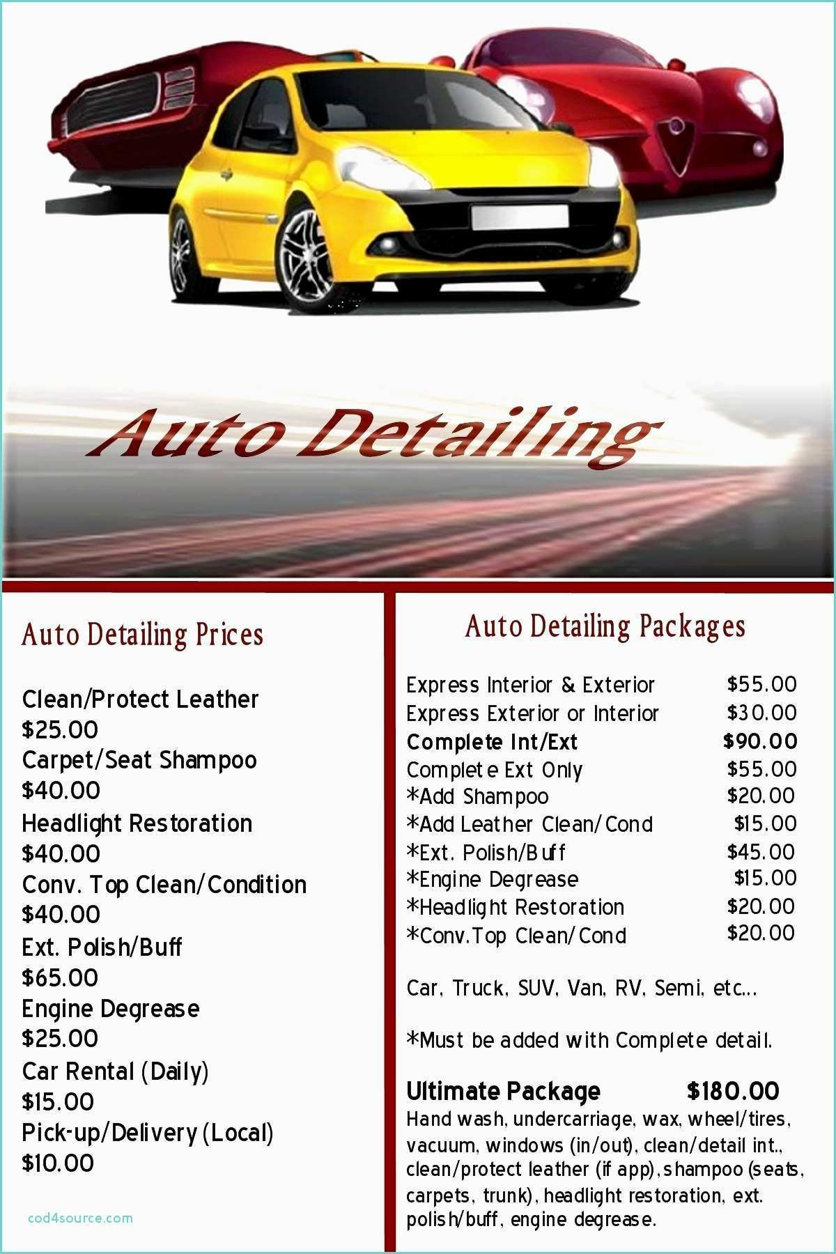 Auto Detailing Gift Certificate Template With Free Plus Together As Pertaining To Automotive Gift Certificate Template