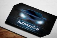 Automotive Blue Business Cards   Printdo regarding Automotive Business Card Templates