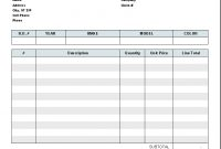 Automotive Repair Invoice Template  Invoice Manager For Excel within Free Auto Repair Invoice Template Excel