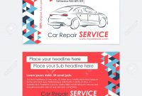 Automotive Service Business Card Template Car Diagnostics And with Transport Business Cards Templates Free