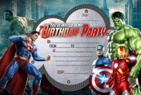 Avengers Birthday Party Invitation Template Free  Invitation intended for Avengers Birthday Card Template