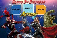 Avengers Birthday Tarpaulin Template  Dioskouri Designs inside Avengers Birthday Card Template