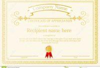 Award Certificate Frame Template Design Vector Stock Vector within Award Certificate Design Template