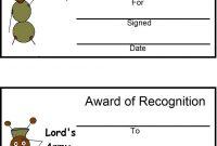 Award Certificate Template Clipart  Vbs Bible Boot Camp  Award for Vbs Certificate Template