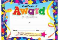 Award Certificate Template Free  Tate Publishing News pertaining to Fun Certificate Templates