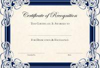 Award Certificate Template Word Ideas Certificates Awards pertaining to Sample Award Certificates Templates