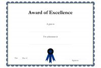 Award Template Certificate Borders  Award Of Excellenceis Given pertaining to Award Certificate Border Template