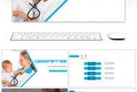 Awesome Blue Simplified Children's Hospital Nursing Ppt Template For inside Free Nursing Powerpoint Templates