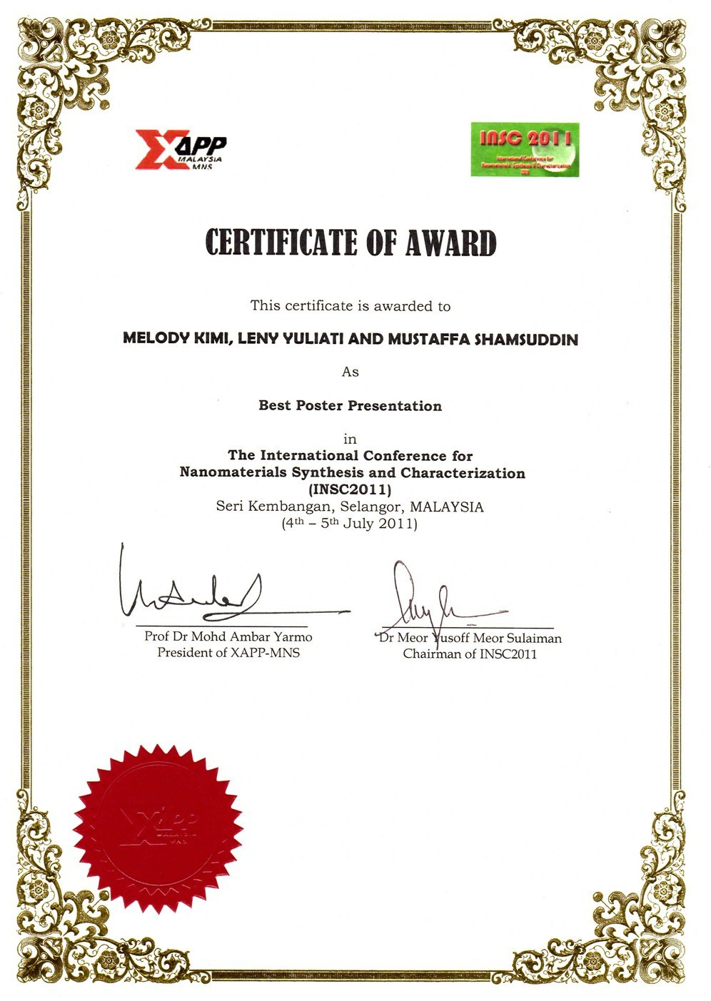 Awesome Collection For International Conference Certificate In International Conference Certificate Templates
