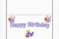 Awesome Free Birthday Card Templates For Word  Best Of Template pertaining to Free Blank Greeting Card Templates For Word