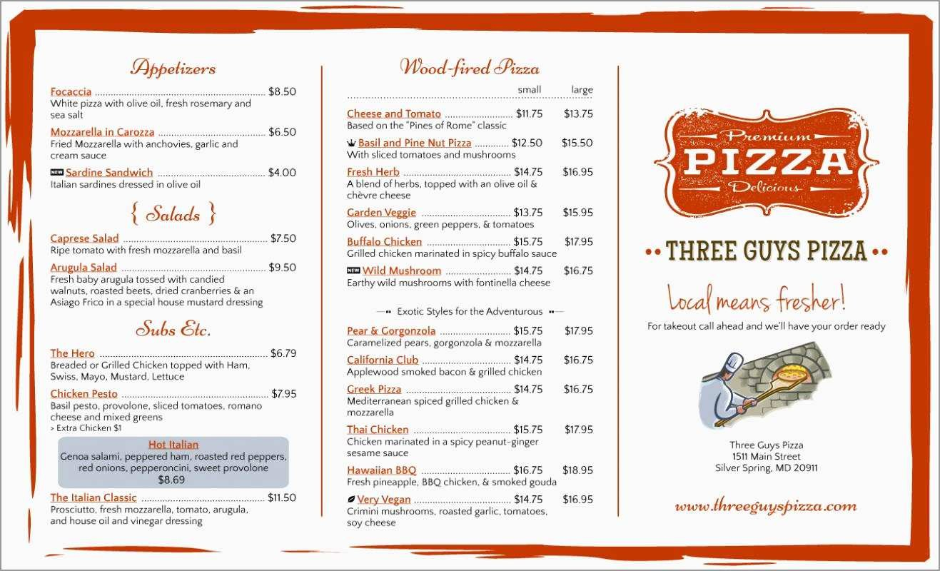 Awesome Free Take Out Menu Templates For Word  Best Of Template Within Take Out Menu Template