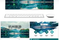 Awesome Hangzhou Impression Tourism Album Ppt Template For Free within Powerpoint Templates Tourism
