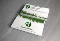 Awesome Lawn Care Business Card Templates Free  Best Of Template pertaining to Lawn Care Business Cards Templates Free