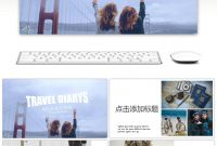 Awesome Magazine Wind Travel Album Ppt Template For Unlimited in Powerpoint Photo Album Template