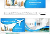 Awesome Overseas Holiday Tourism Dynamic Ppt Template For Free with Tourism Powerpoint Template