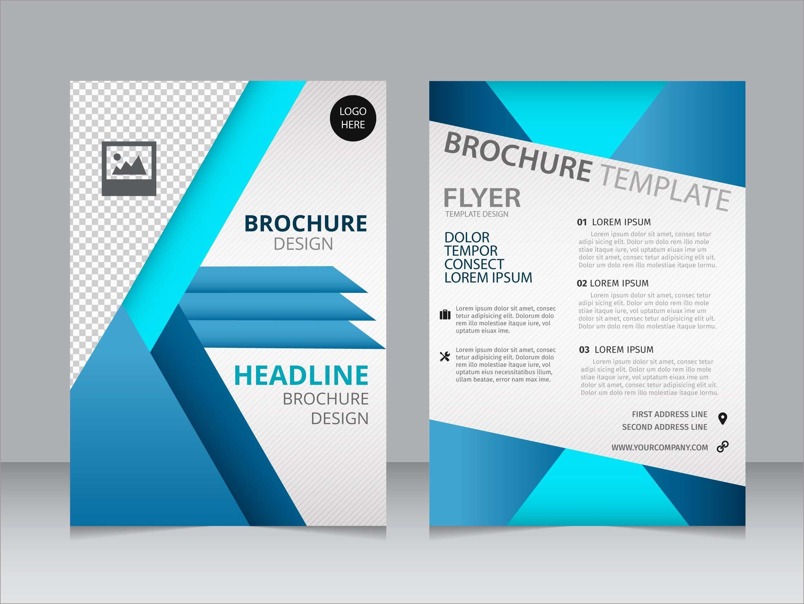 Awesome Template For Brochure Design Free Download  Best Of Template Throughout Creative Brochure Templates Free Download
