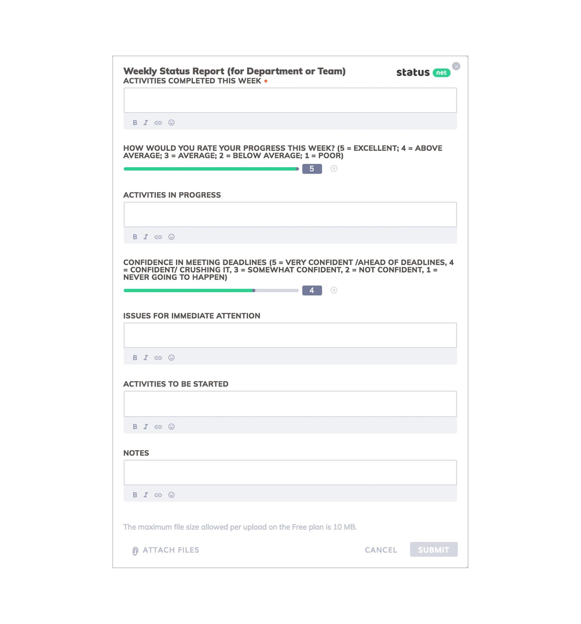 Awesome Weekly Status Report Templates  Free Download Intended For Company Progress Report Template