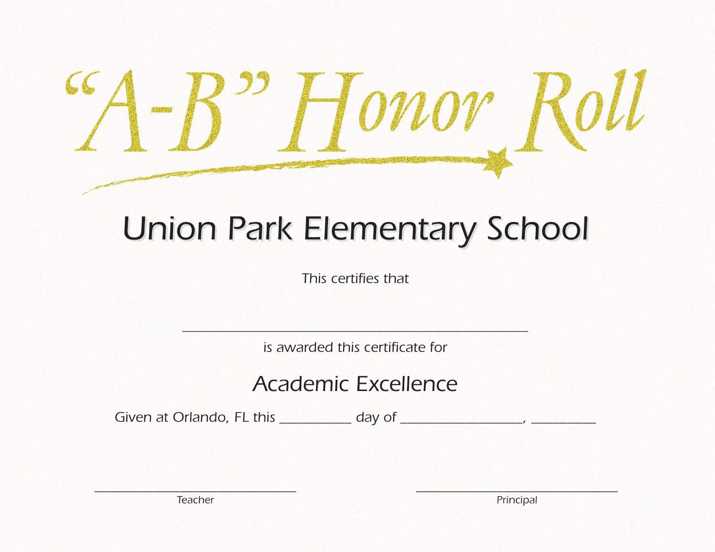 B Honor Roll Certificate Template Brochure Templates  Rohanspong In Honor Roll Certificate Template