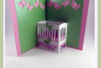 Baby Crib Popup Card Free Svg File Available At Cuttercrafter intended for Free Svg Card Templates