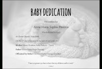 Baby Dedication Certificate Template For Word Free Printable pertaining to Christian Certificate Template