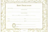Baby Dedication Certificates  Template Business for Baby Dedication Certificate Template