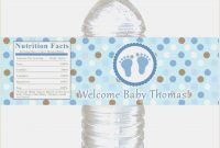 Baby Shower Bottle Labels Template New Free Water Bottle Label for Baby Shower Water Bottle Labels Template