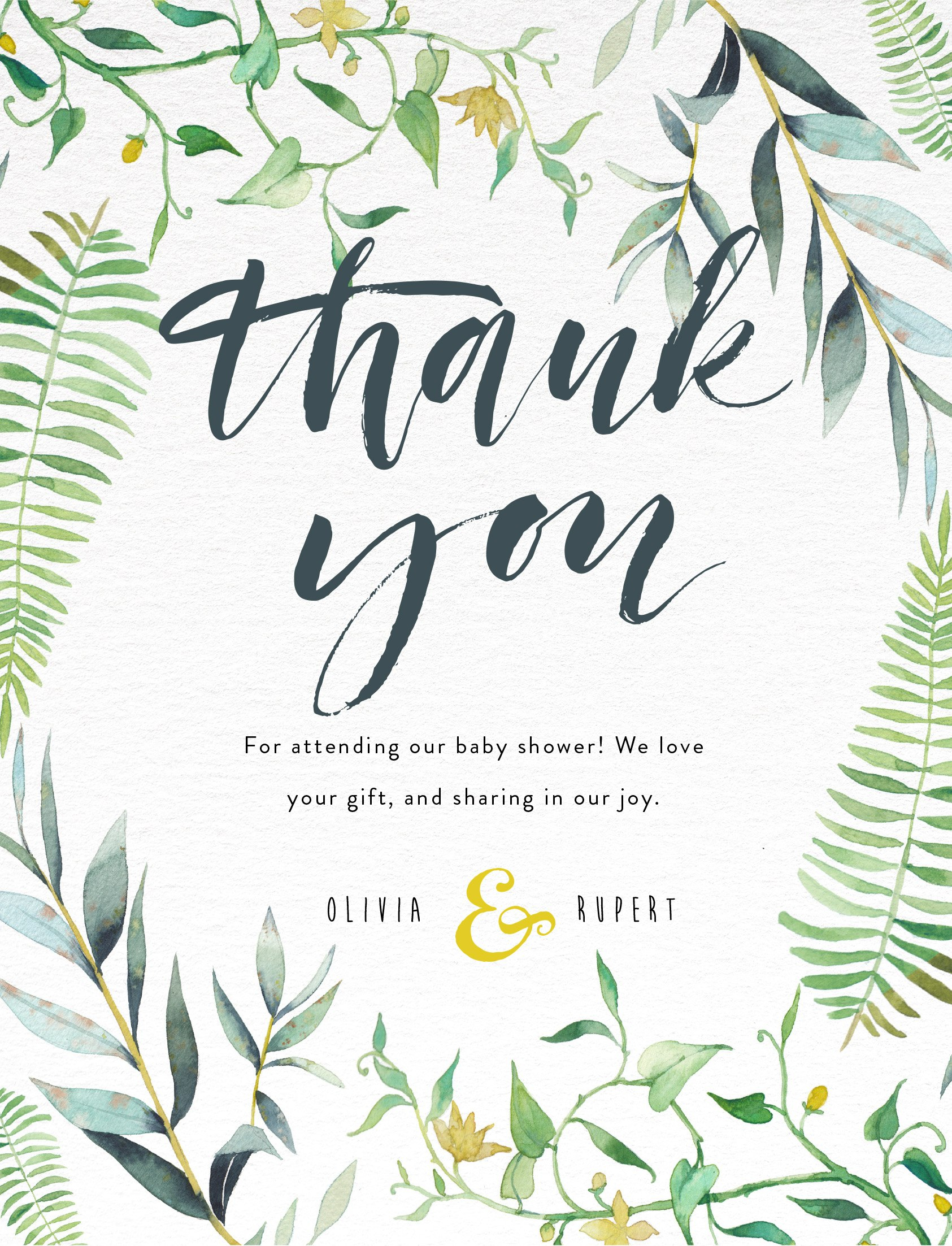Baby Shower Thank You Cards  Customise  Print Online With Paperlust Throughout Template For Baby Shower Thank You Cards