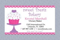 Bakery Cakes Business Cards Business Card Templates T intended for Cake Business Cards Templates Free