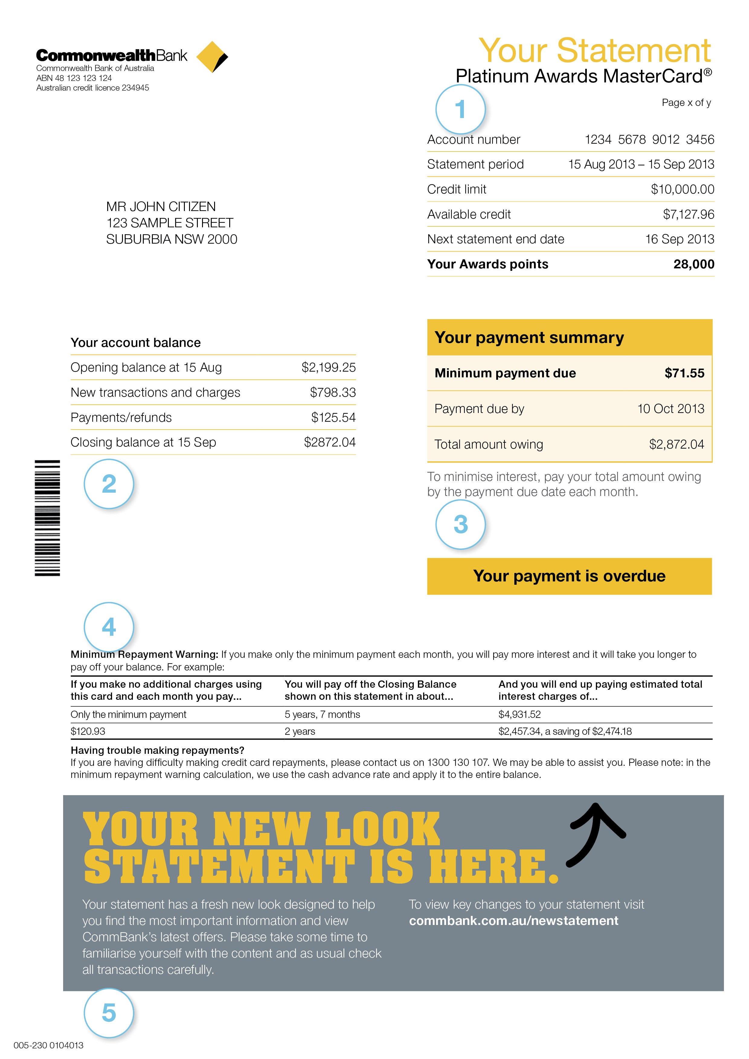 Bank Account Statement Example Your Guide To Statements Commonwealth Inside Credit Card Statement Template