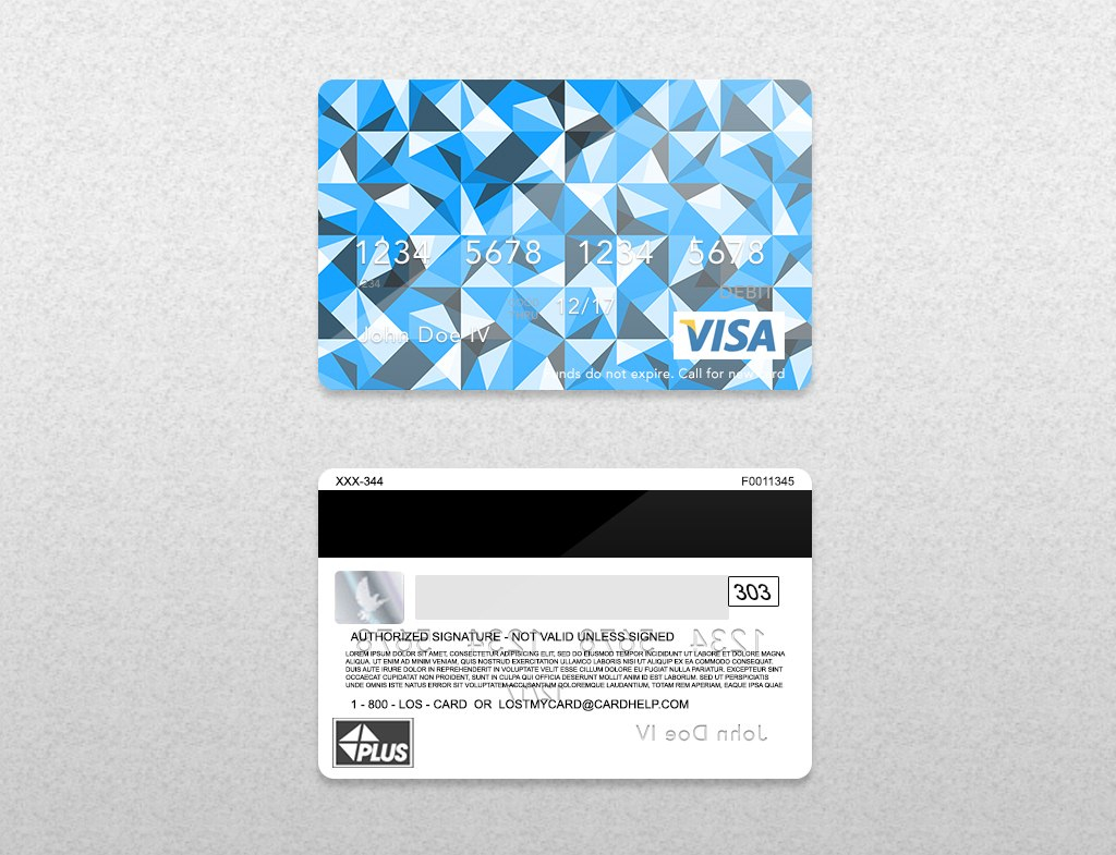 Bank Card Psd Template On Behance Within Credit Card Templates For Sale